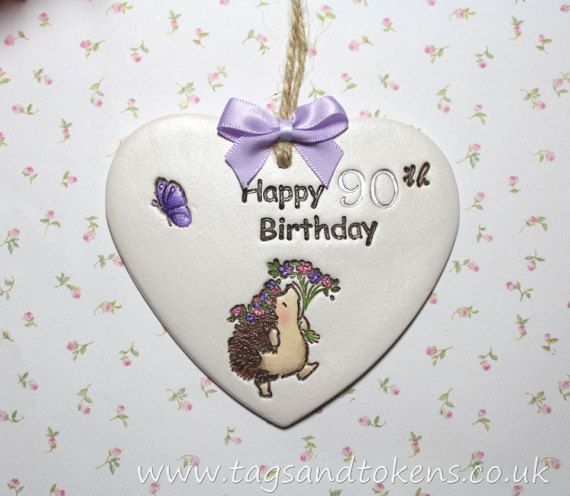 Hanging Heart 90th Birthday Gift Or Alternative By TagsandTokensUK