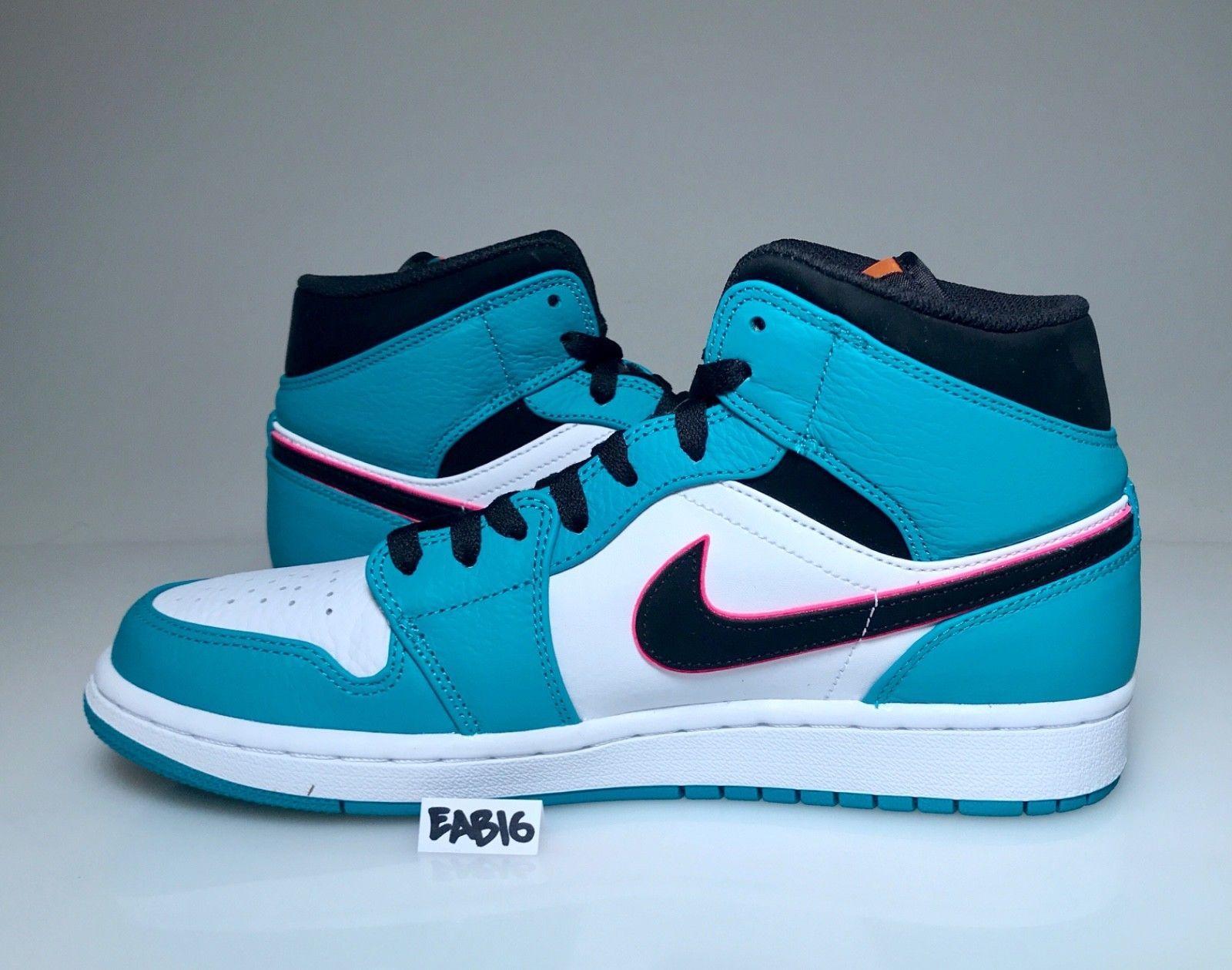 low priced 77777 be985 Nike Air Jordan 1 Mid SE Riverwalk South Beach Turbo Green Black Pink