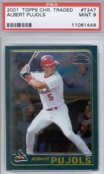 2001 Albert Pujols Topps Chrome Traded PSA 9 (RC - Rookie Card) by Topps. $129.99