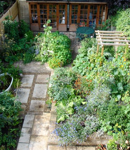 Ornamental Kitchen Garden Aerial View Tr Dg Rd