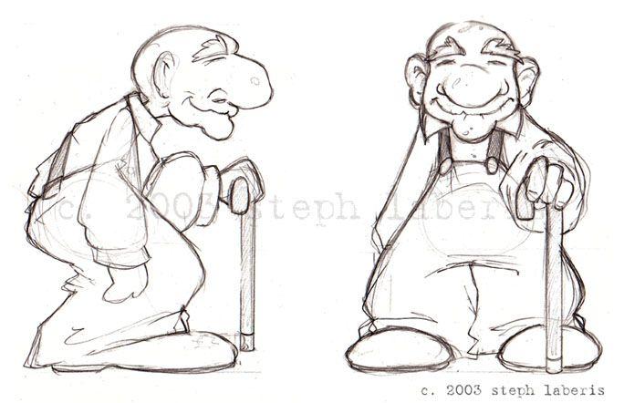 Character Design Old Man : Old man model sheet by steph laberis on deviantart