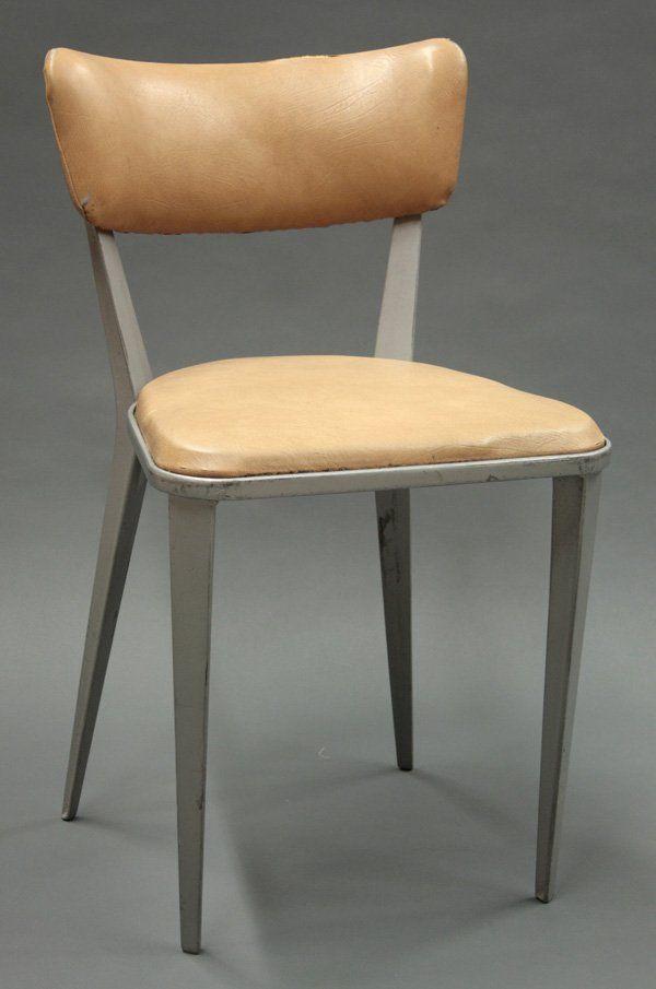 ernest race; #ba3 enameled cast aluminum side chair for race