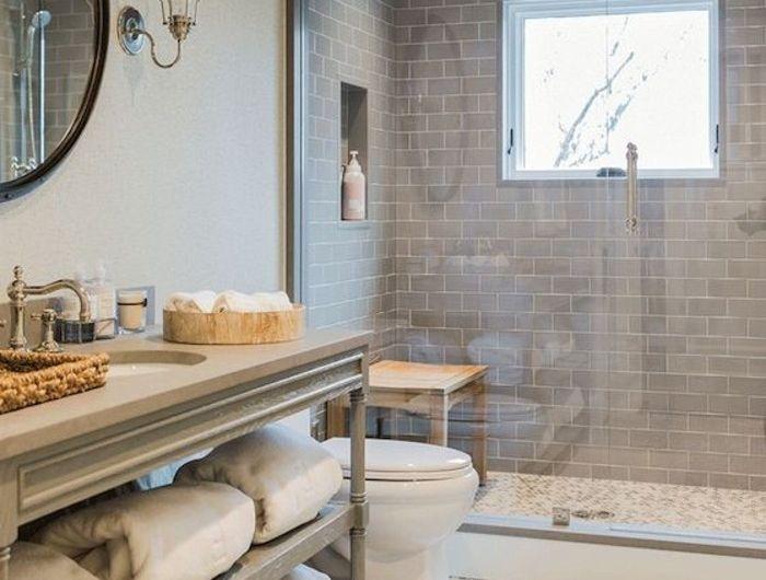 Le carrelage galet, pratique revêtement pour la salle de bain! - carreaux de verre pour salle de bain