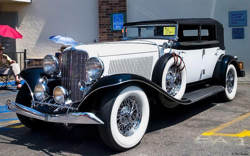 1934 Auburn 12 Four Door Convertible Sedan – black over white