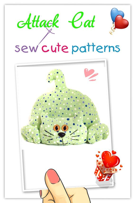 Softie Pattern / PDF Pattern Soft Toy / Sewing Pattern / Stuffed Cat ...