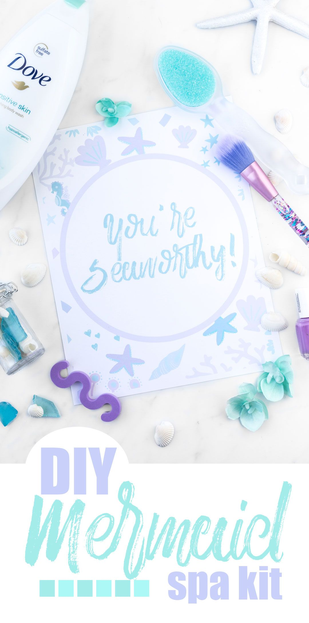 DIY Mermaid Spa Kit For Mother\'s Day | Dove products, Rite aid and ...