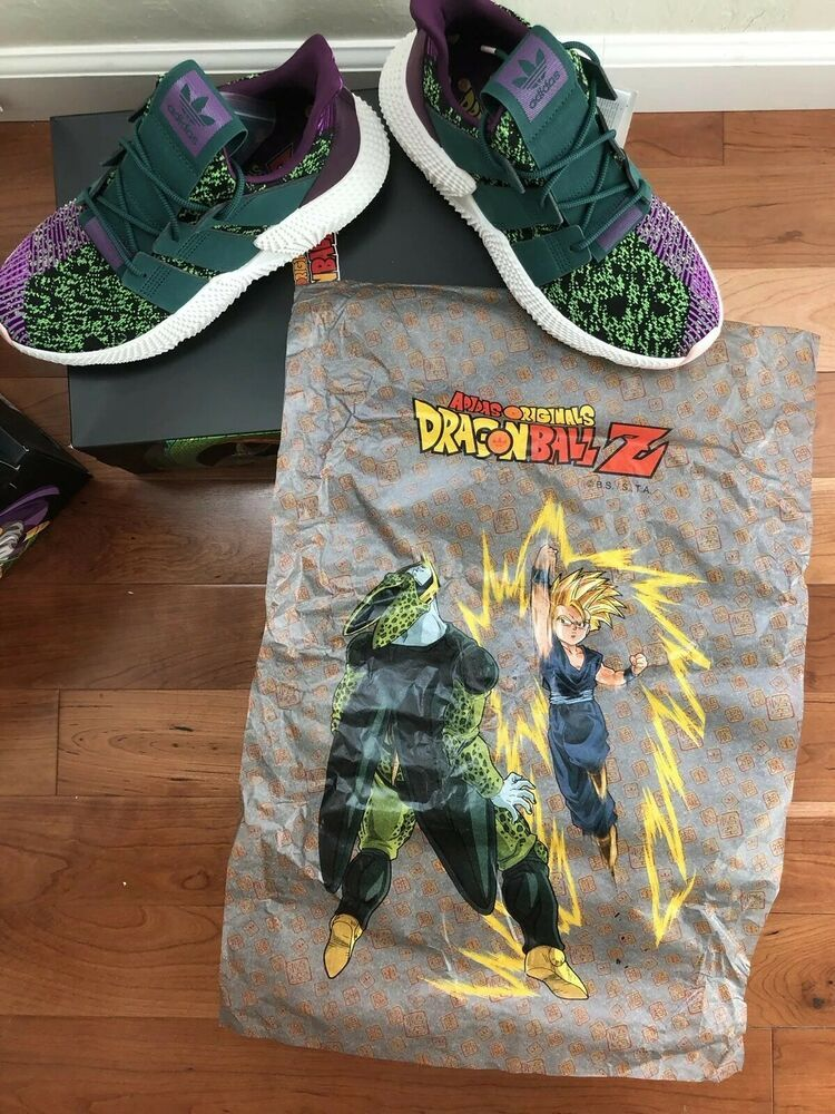 En consecuencia Ambiente brandy  Adidas Dragon Ball Z 9 Prophere Cell DBZ GREEN PURPLE SON GOHAN GOKU Size 9  RARE | Adidas dragon, Sneakers men fashion, Adidas fashion