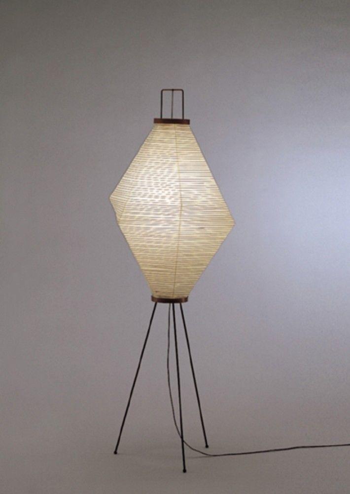 Isamu Noguchi Akari Floor Stand Lamp Light S7177 13a With