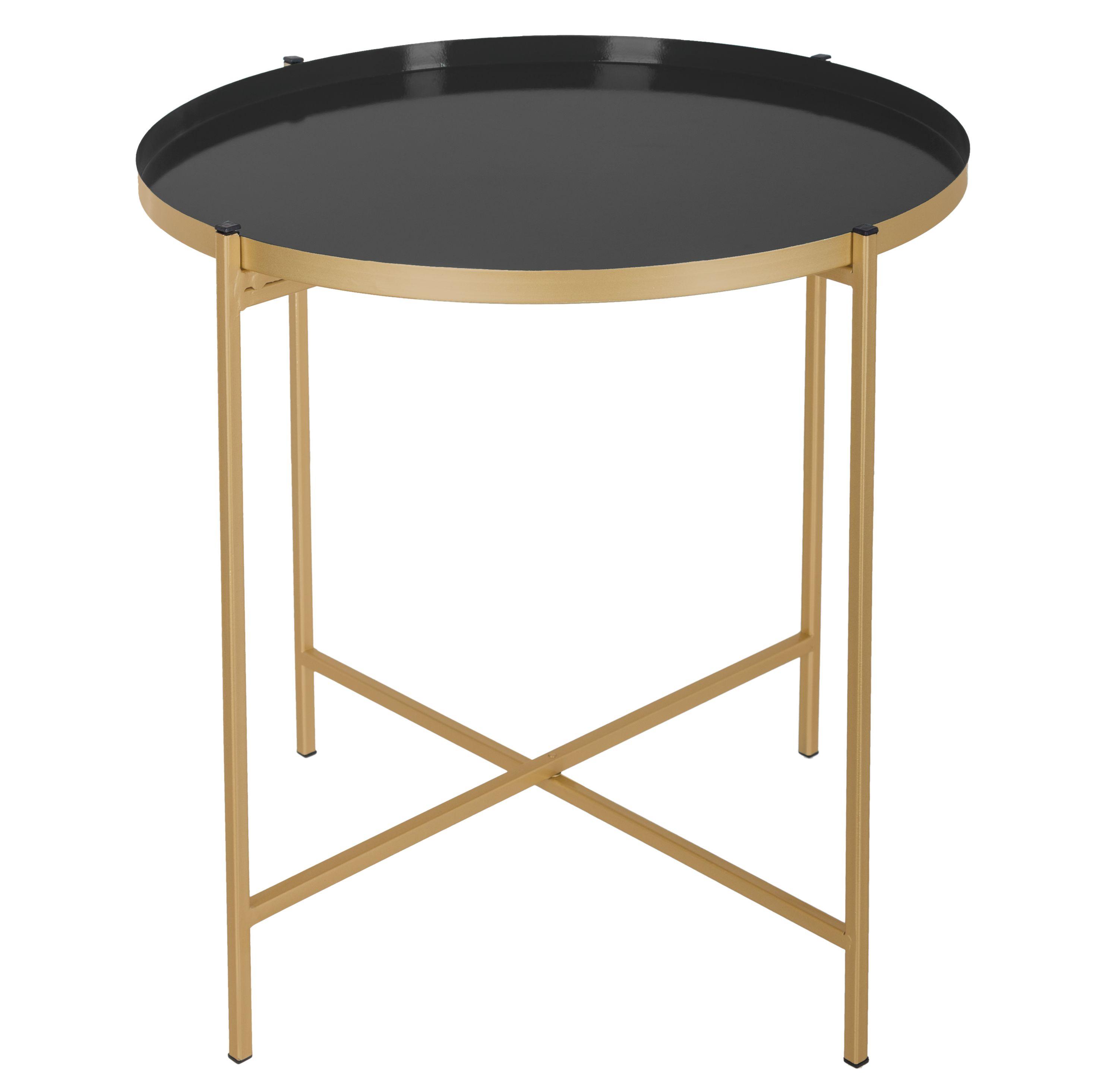Table A Cafe Noire Sanat En Metal Tendance Et Chic Vous Serez Seduit Par Le Charme De La Table A Cafe No Table D Appoint Ronde Table Cafe Table D Appoint