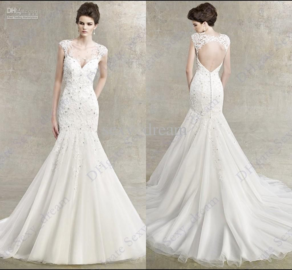 2013 sexy mermaid chapel wedding dresses bride beach v neck 2013 sexy mermaid chapel wedding dresses bride beach v neck backless white winter wedding gown l1 ombrellifo Image collections