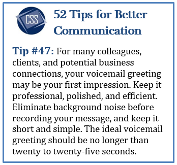 Craft a voicemail greeting that reflects your professionalism craft a voicemail greeting that reflects your professionalism 52tips businesscommunication voicemail m4hsunfo