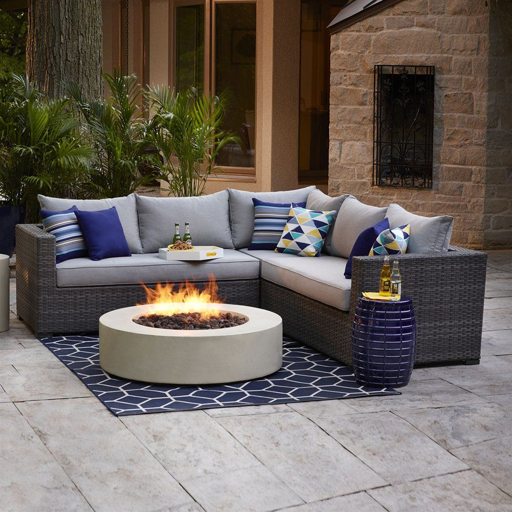 shop allen roth westmount 3 piece sectional wicker sofa set at lowe s canada find our selection of outdoor conversation sets at the lowest price