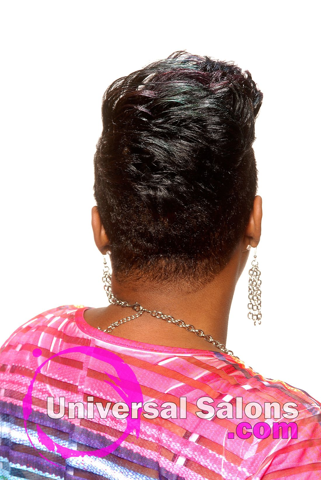 Short mohawk hairstyle with tapered sides from kenya young hair