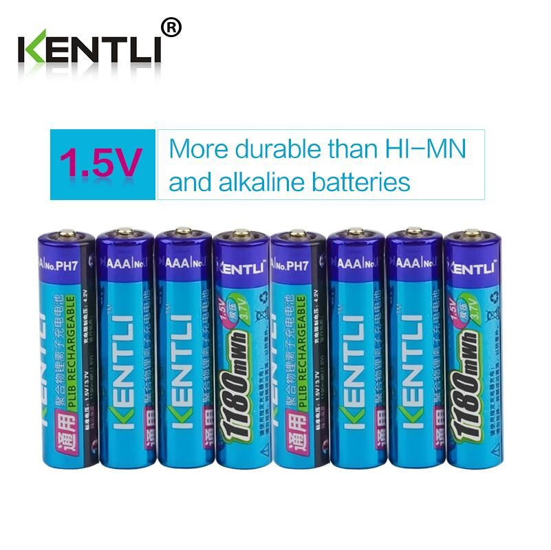 Kentli 8 Pcs 1 5v 1180mwh Toys Aaa Rechargeable Lithium Battery 4 Slots Aa Aaa Lithium Battery Charger With F Lithium Battery Lithium Battery Charger Polymer
