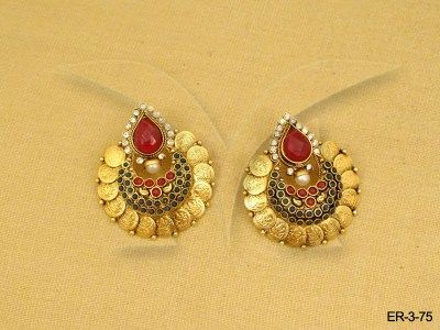 dee0d396f55c7 Laxmi Mata Coin Earring | Temple Jewellery by Manekratna in 2019 ...