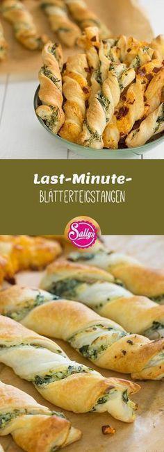 Last-Minute-Blätterteigstangen / Fingerfood #halloweenrezepte
