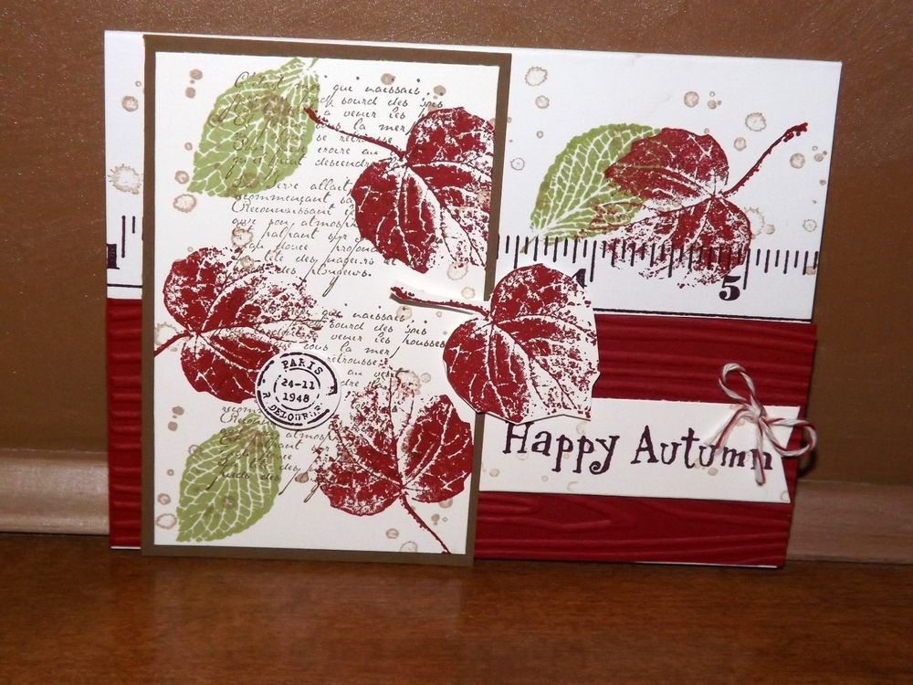 Stampin Up! French Foliage Autumn- Card Kit - set of 4 #AnyOccasion