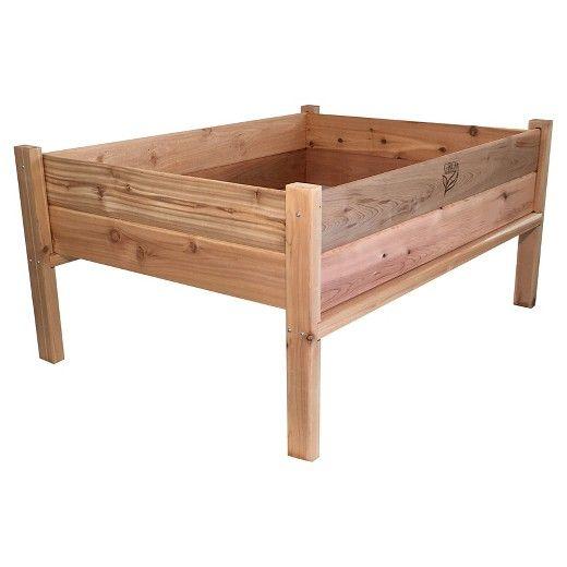 "GRO Products Elevated Garden Bed 36"" X 48"" x 34"" Unit Red Cedar Garden Planter : Target"