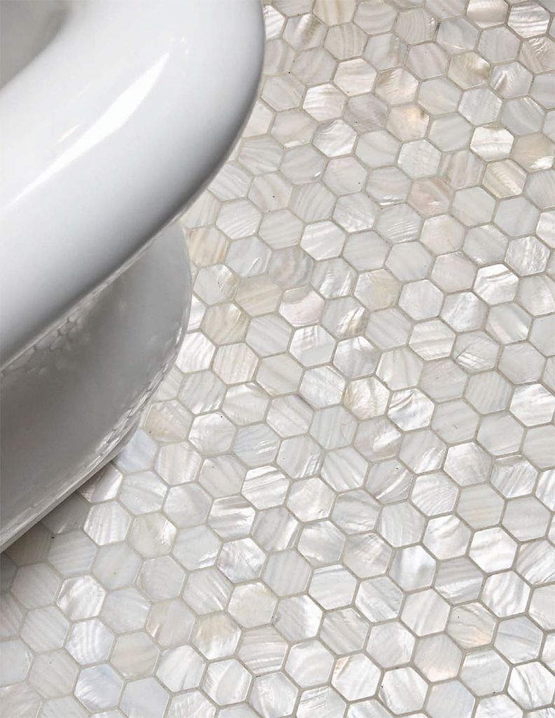 White hexagon pearl shell tile white hexagon pearl shell tile subway tile outlet dailygadgetfo Image collections