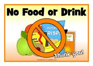 image about No Food or Drink Signs Printable named No Food stuff or Consume Signs and symptoms (SB11471) - ..until h2o.. Heart