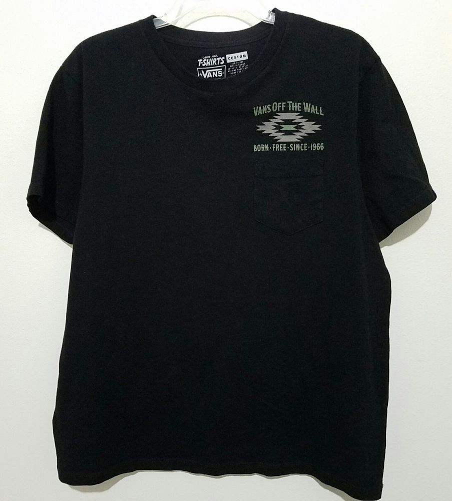 740a47824516a8 VANS Off The Wall Born Free Since 1966 Graphic Pocket T Shirt Black Mens  Size M  VANS  GraphicTee  Ebay  Ebaystore  Isoldthisonebay   Favordesignsboutique ...