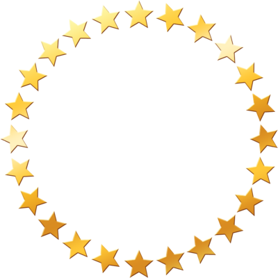 gold star frame, png image trans. back | compant need ...