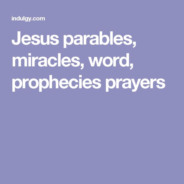 MAP: Miracles And Prayer