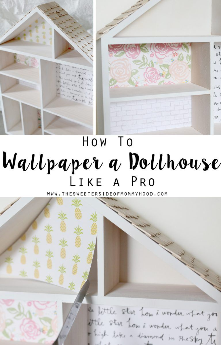 dollhouse-makeover-how-to-wallpaper-a-dollhouse-like-a-pro #dollhousefurniture