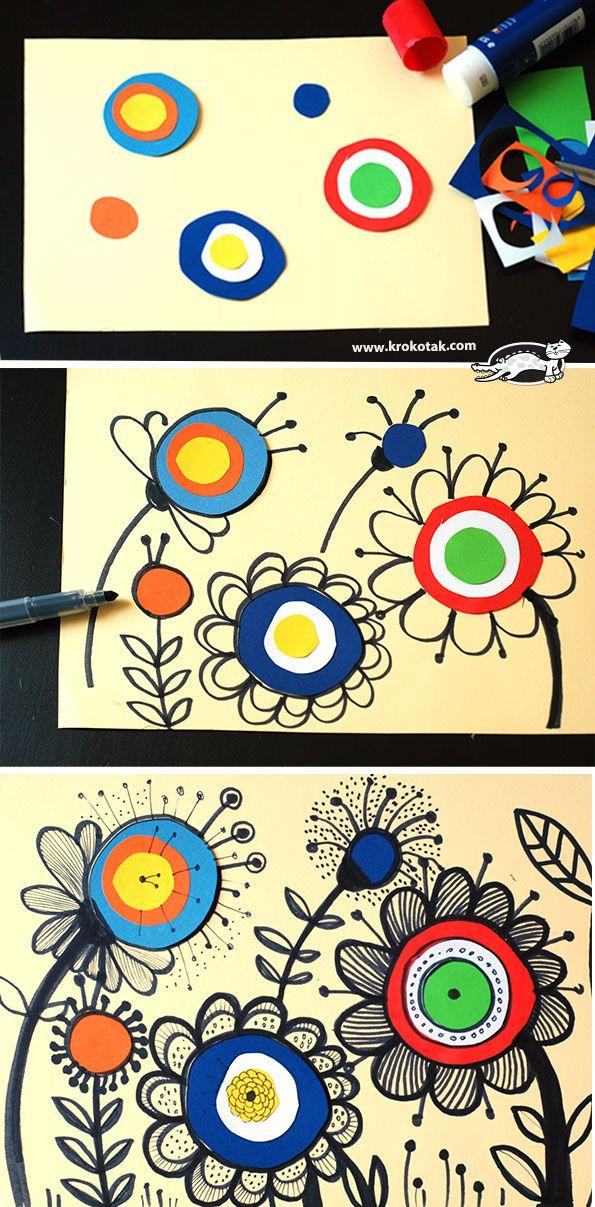 kunst in der grundschule doodle blumen kunst pinterest grundschulen kunst und blumen. Black Bedroom Furniture Sets. Home Design Ideas