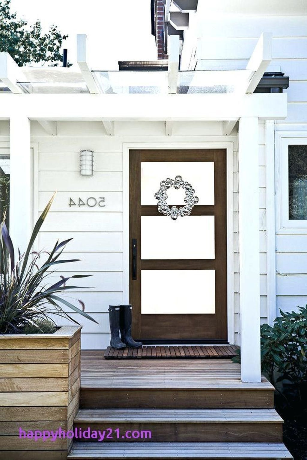 20 beautiful farmhouse front door entrance decor and