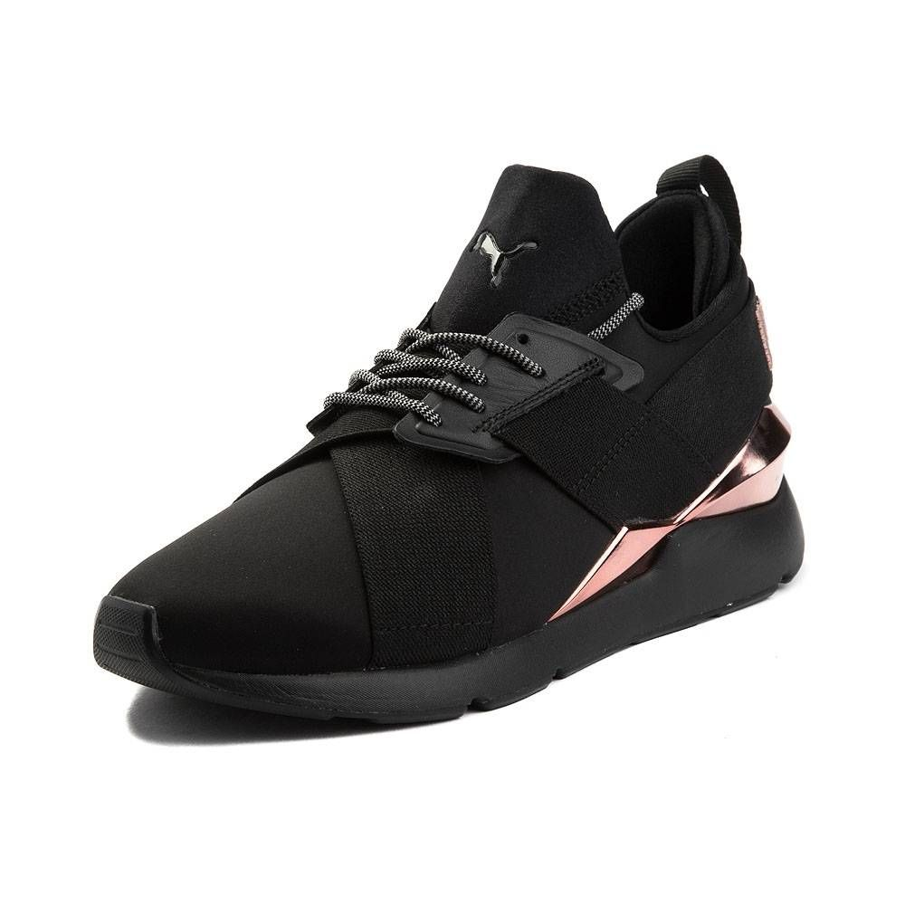 Womens Puma Muse En Pointe Athletic Shoe - Black Rose Gold - 361766 ... 11e3b5f3c