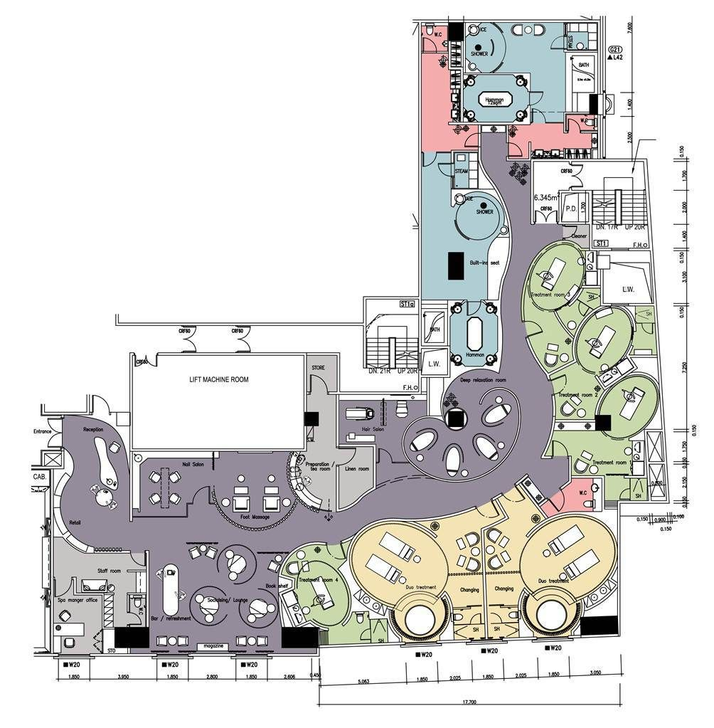 So Spa Layout Resort Plan Hotel Floor Plan Spa Design