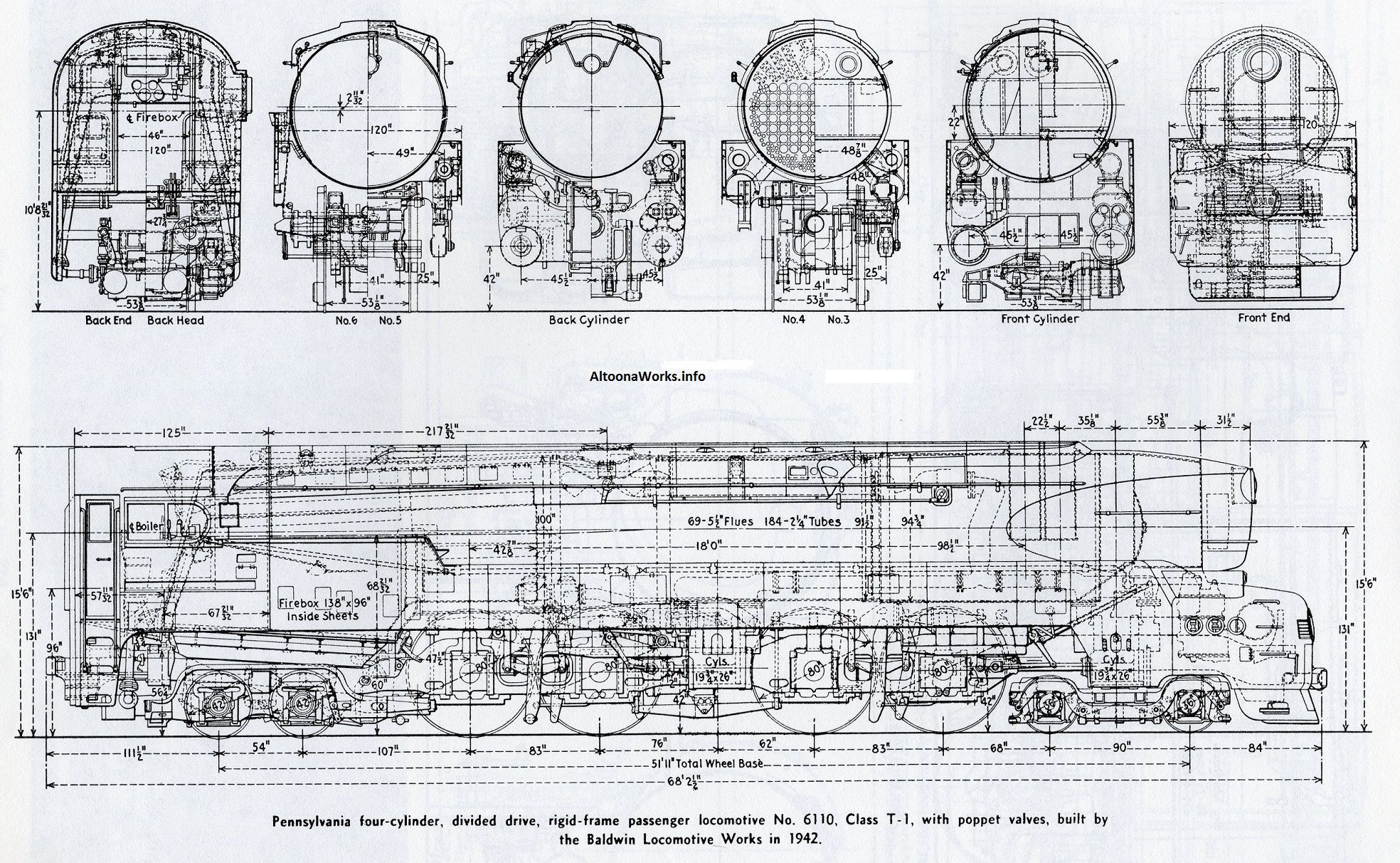 pennsylvania t 1 4 4 4 4 baldwin 1942 locomotive cutaways prr barge diagram [ 1968 x 1212 Pixel ]