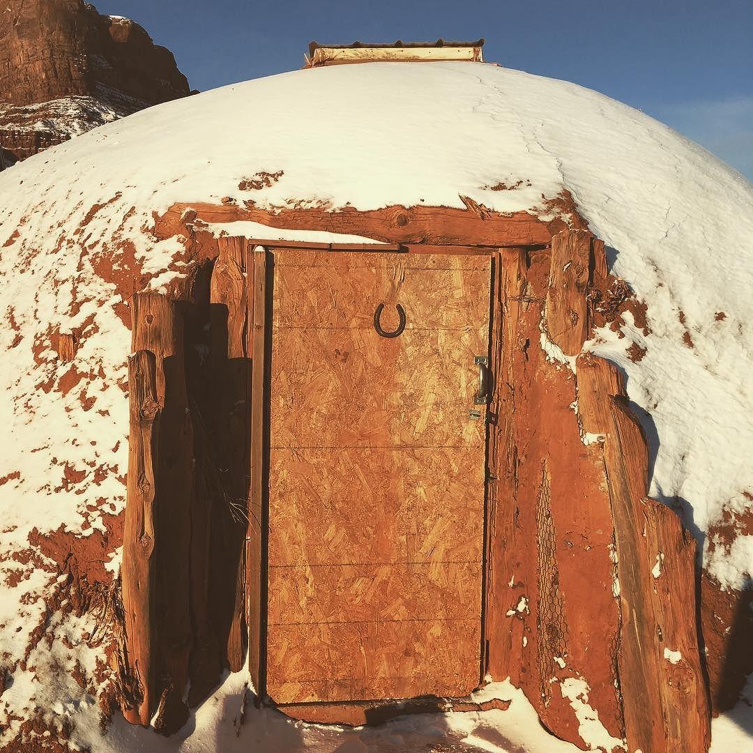 design intemporel 5e32c 90f7c Traditional Navajo hogan. We spent a night here no joke. It ...