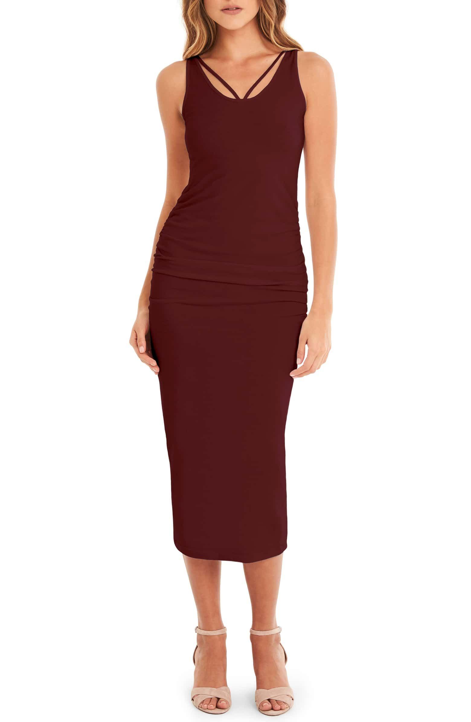 Michael Stars Reversible Stretch Cotton Midi Dress Nordstrom Cotton Midi Dress Midi Dress Nordstrom Dresses [ 2392 x 1560 Pixel ]