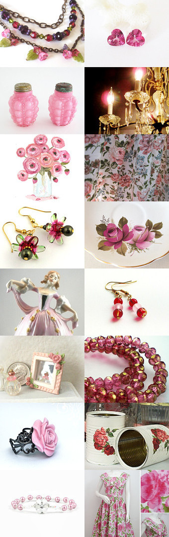 Pretty in Pink by Becca and Papa Bunny on Etsy--Pinned with TreasuryPin.com