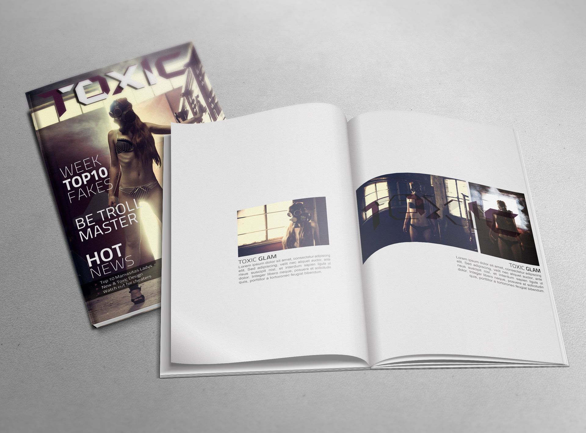 Magazine Mockup (Free PSD) [Upgraded] | Useful | Pinterest