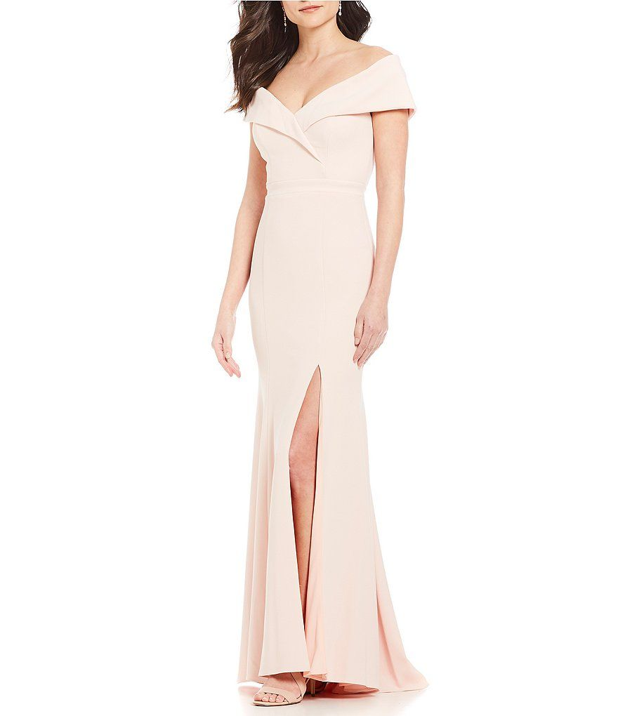 Xscape offtheshoulder gown gowns and shoulder