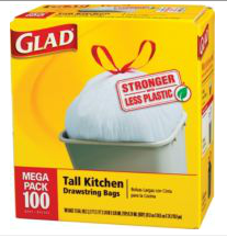picture about Glad Trash Bags Printable Coupon called Happy Trash Luggage $2/2 Printable Coupon Coupon codes Kitchen area