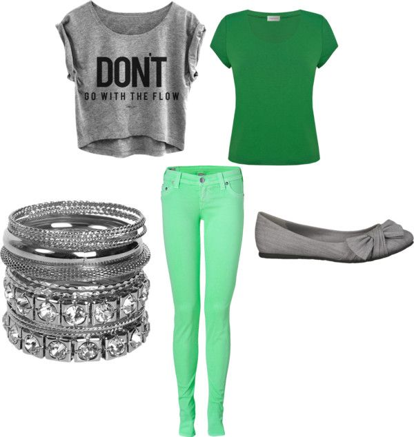 """""""Green and Gray"""" by begirl2799 on Polyvore"""