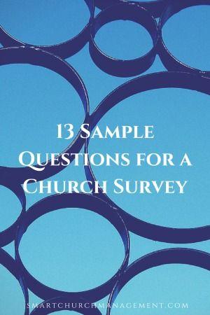 13 Sample Church Survey Questions Survey Questions Sample
