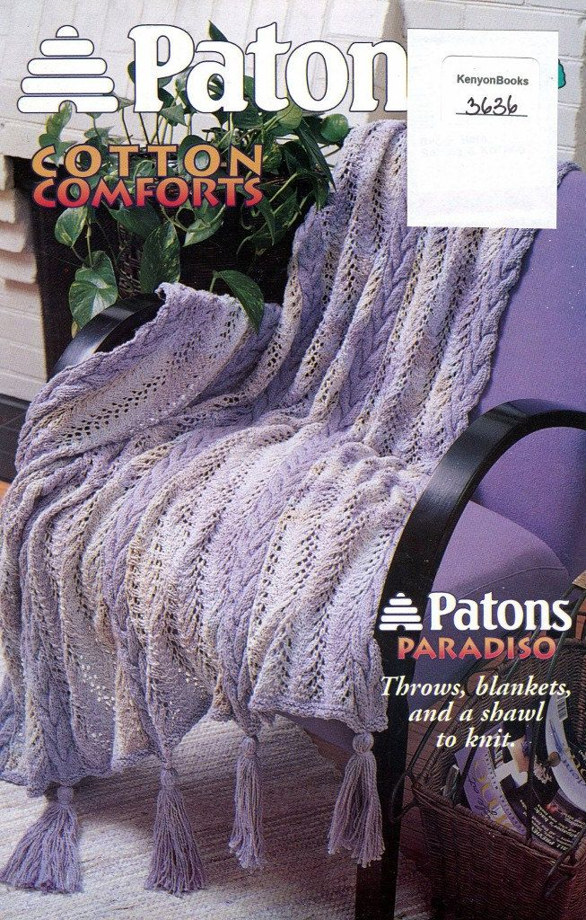 KNITTING Pattern Book 6 DESIGNS Throws Blankets by KenyonBooks