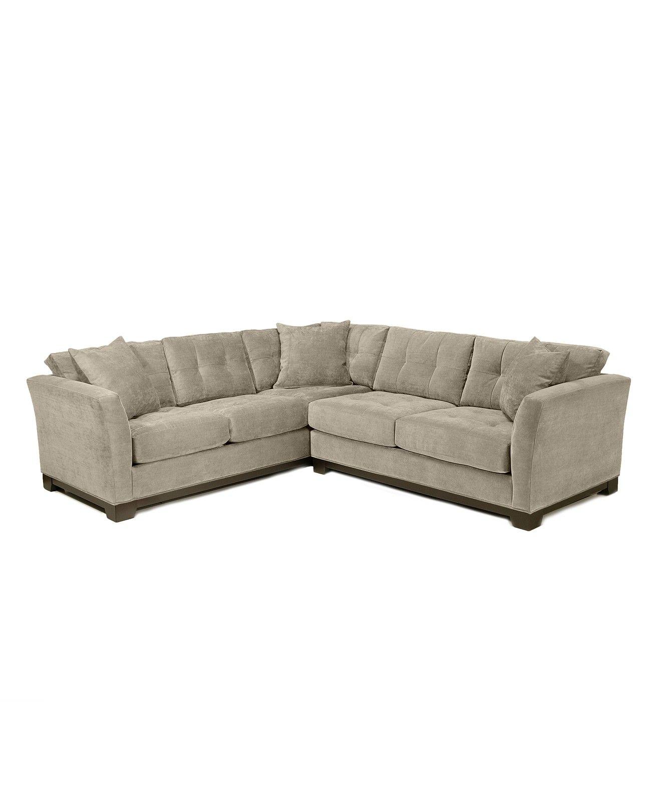 Elliot Fabric Microfiber 2 Piece Sectional Sofa Custom Colors