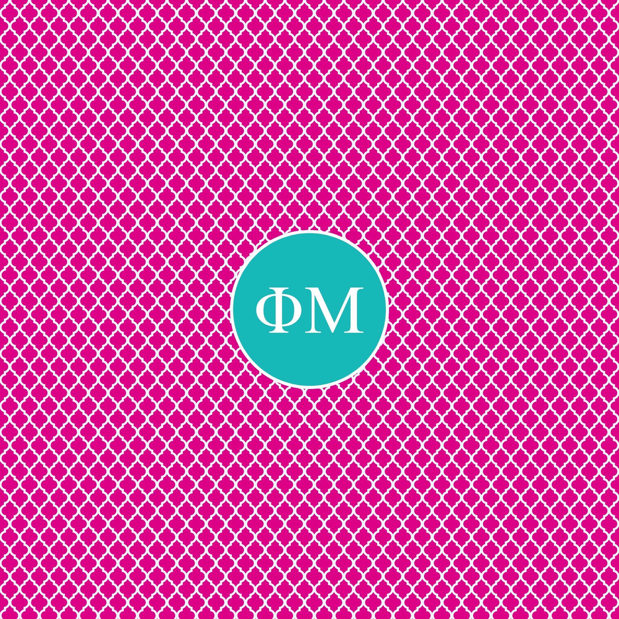 Phi Mu Monogram! | Monogram Madness | Pinterest | Monograms