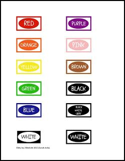 Crayon organization color labels printable busy bags for Crayon label template