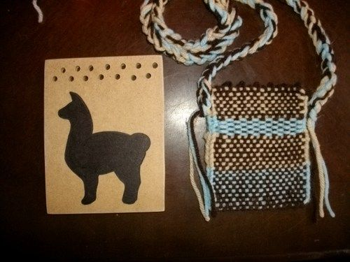 Llama Weaving Board Pocket Loom With Instructions