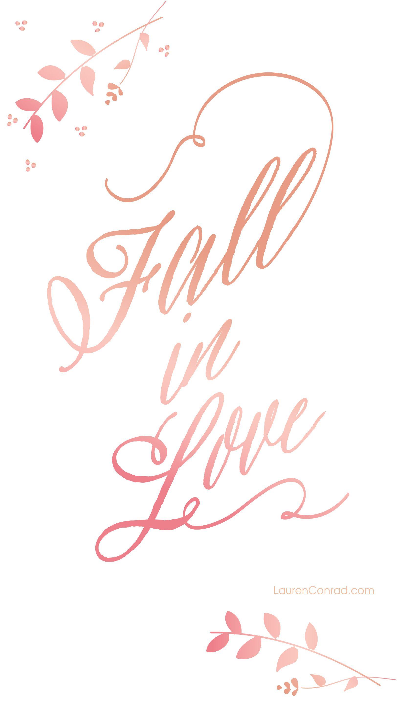 Wallpaper iphone inspiration - Fall In Love Iphone Wallpaper Laurenconrad Com