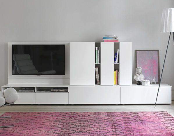 moderne wohnwand lackiertes holz lowboard werner aisslinger cube change interl bke. Black Bedroom Furniture Sets. Home Design Ideas