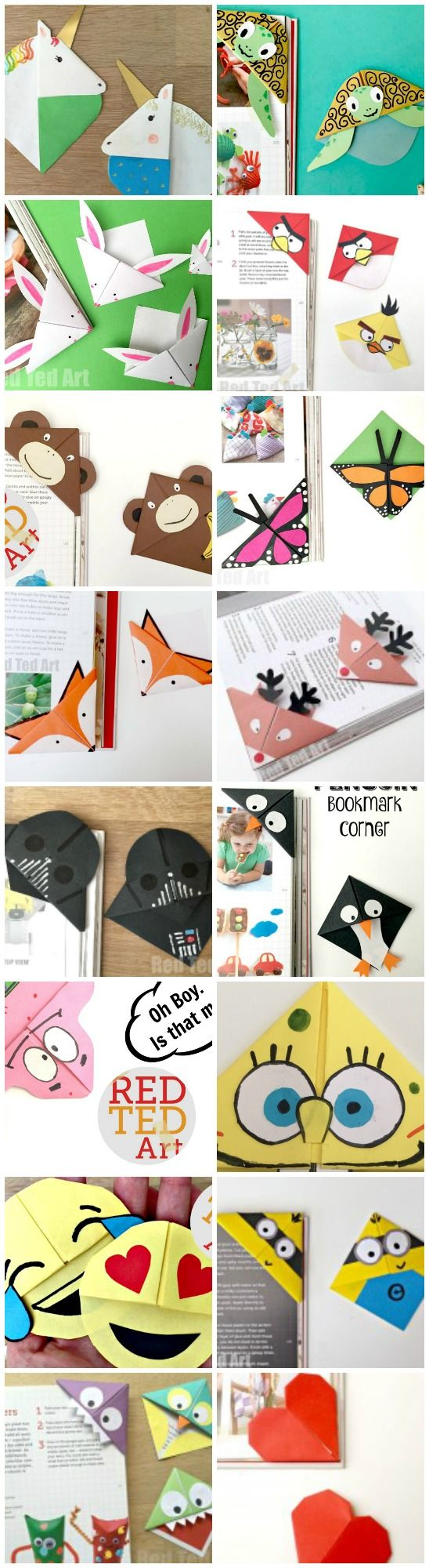 Corner bookmarks how to designs bookmark craft crafts for Easy bookmark ideas