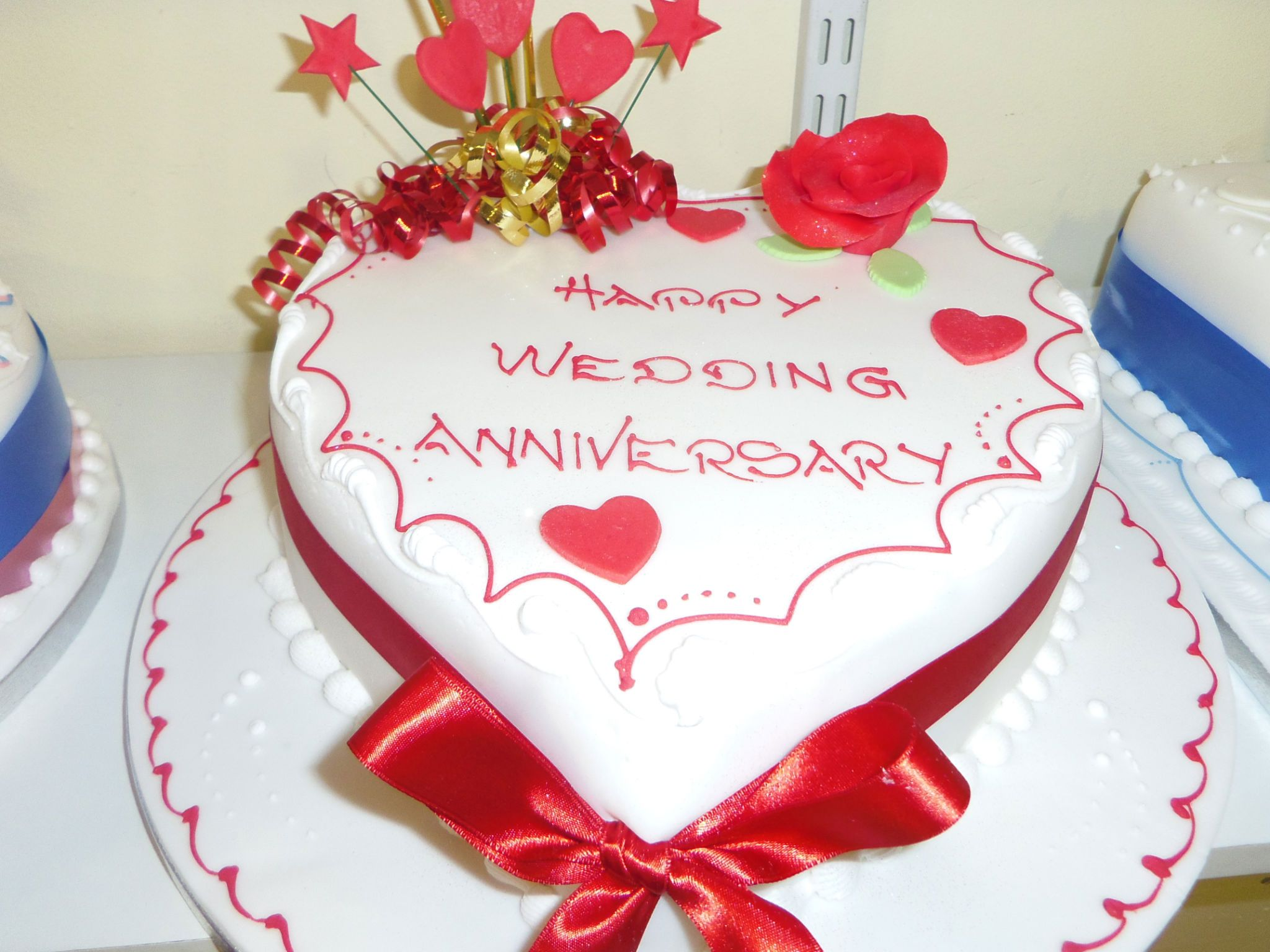 Cakes Images Wedding Cake Hd Wallpaper And Background Photos - Cake happy wedding anniversary cakes